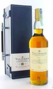 Talisker 18 years old leather gift pack