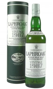 Laphroaig 1987 19 Year Old Vintage, OB with Tube