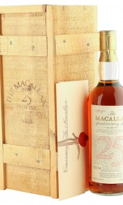Macallan 1958 25 Year Old Anniversary Malt, Rare UK Edition