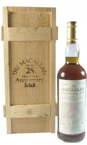 Macallan 1962 25 Year Old Anniversary Malt with Presentation Box