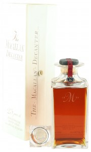 Macallan 1962 25 Year Old, Crystal Decanter with Stopper and Box