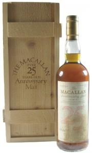 Macallan 1964 25 Year Old Anniversary Malt with Box (Bad Label)