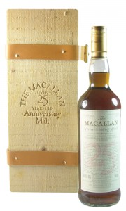 Macallan 25 Year Old Anniversary Malt, US Edition with Presentation Box
