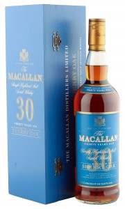 Macallan 30 Year Old, Sherry Oak, Blue Label with Presentation Box